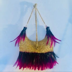 Feathered Beaded clutch